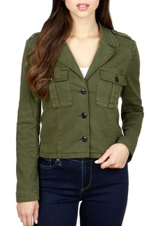 Lucky Brand Cropped Button-Front Jacket