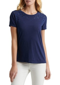 Lucky Brand Cut-Out Cotton Tee
