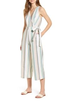 Lucky Brand Daisy Stripe Sleeveless Cotton Jumpsuit