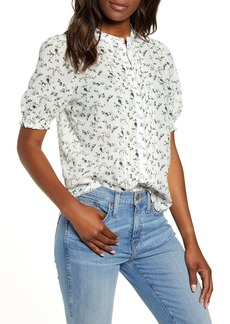 Lucky Brand Dakota Pintuck Ruffle Sleeve Blouse