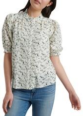 Lucky Brand Dakota Ruffle-Sleeve Top