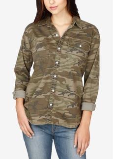 Lucky Brand Denim Camo-Print Boyfriend Shirt