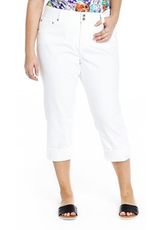 Lucky Brand Denim Collection Emma White Cropped Jean