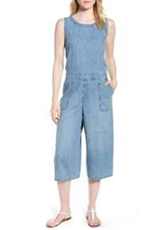 Lucky Brand Denim Crop Jumpsuit