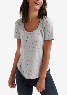 Lucky Brand Dice Print T-Shirt