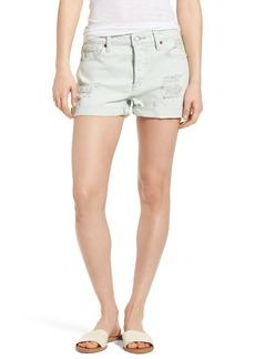 Lucky Brand Distressed Denim Boyfriend Shorts (Parmer)