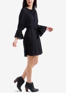 Lucky Brand Dot-Print Bell-Sleeved Dress