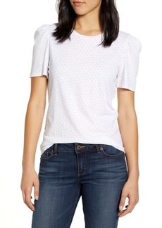 Lucky Brand Dot Puff Sleeve Top