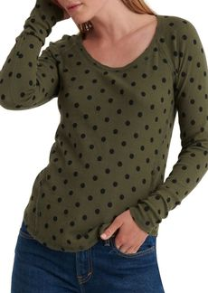 Lucky Brand Dotted Pullover Top
