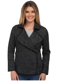 Lucky Brand Drape Front Wool Jacket