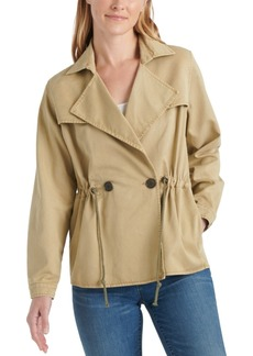 Lucky Brand Drawstring Trench Coat