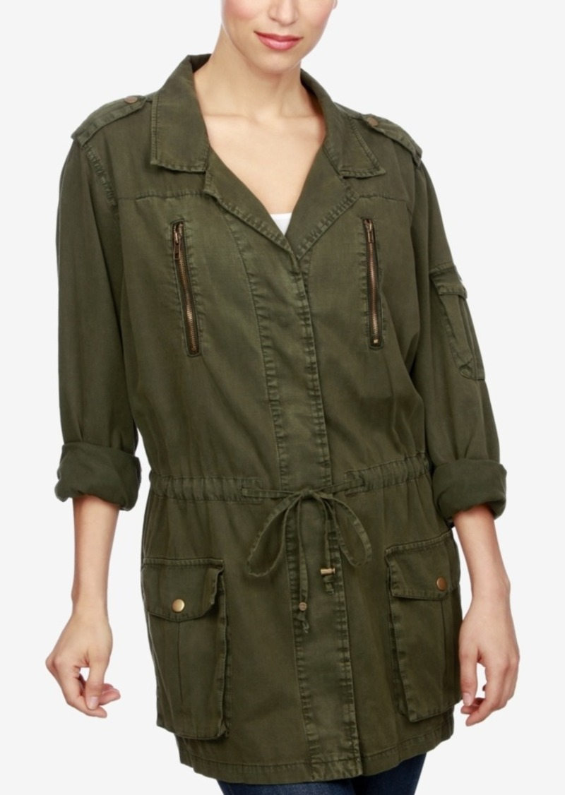 Lucky Brand Drawstring-Waist Military Jacket