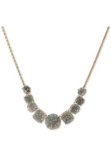 "Lucky Brand Druzy Stone Collar Necklace, 17"" + 2"" extender"