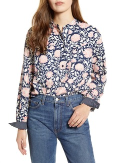 Lucky Brand Edie Floral Cotton Popover Shirt