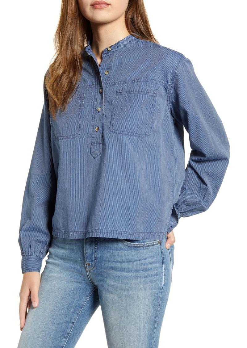Lucky Brand Edie Stripe Cotton Popover Shirt