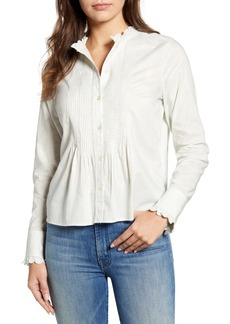 Lucky Brand Eleanor Pintuck Cotton Blouse