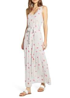 Lucky Brand Eliza Floral Print Belted Maxi Dress