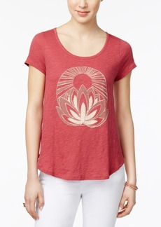 Lucky Brand Embellished Graphic T-Shirt