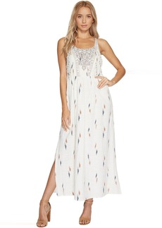 Lucky Brand Embroidered Apron Dress