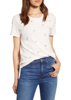 Lucky Brand Embroidered Bee Tee