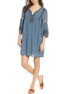 Lucky Brand Embroidered Bell Sleeve Dress