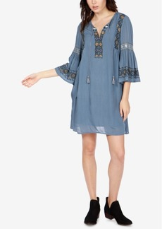 Lucky Brand Embroidered Bell-Sleeve Dress