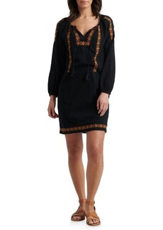 Lucky Brand Embroidered Cotton Shift Dress