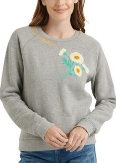 Lucky Brand Embroidered Daisy Sweatshirt