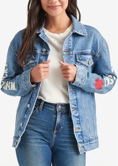 Lucky Brand Embroidered Denim Jacket