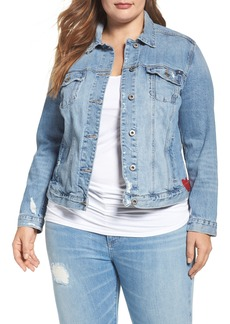 Lucky Brand Embroidered Denim Jacket (Plus Size)