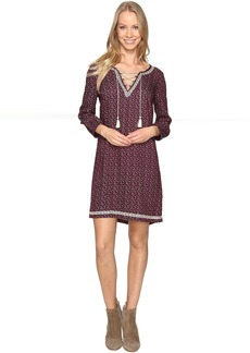 Lucky Brand Embroidered Ditsy Dress