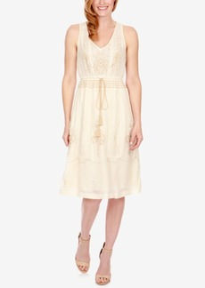 Lucky Brand Embroidered Drawstring Dress