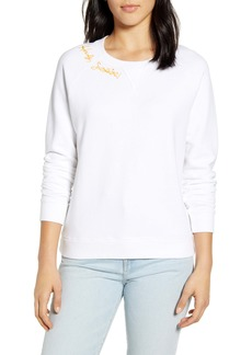 Lucky Brand Embroidered Howdy Sunshine Crewneck Sweatshirt