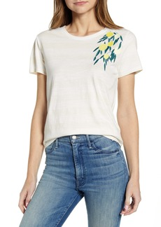 Lucky Brand Embroidered Lemon Cotton T-Shirt
