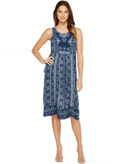 Lucky Brand Embroidered Printed Dress