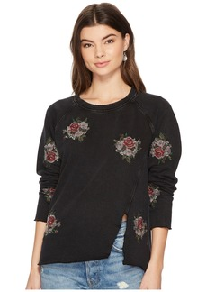Embroidered Pullover Flower Top