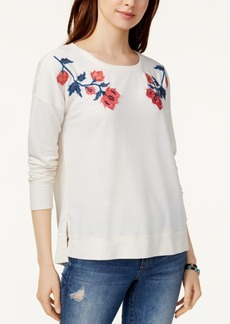 Lucky Brand Embroidered Sweatshirt Created for Macy's