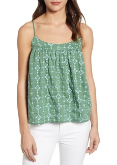 Lucky Brand Embroidered Swing Tank