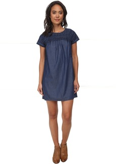 Lucky Brand Embroidered Tencel Dress