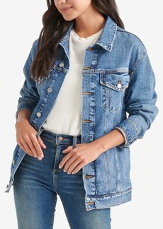 Lucky Brand Embroidered Trucker Jacket