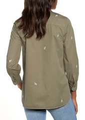 Lucky Brand Embroidered Utility Shirt Jacket