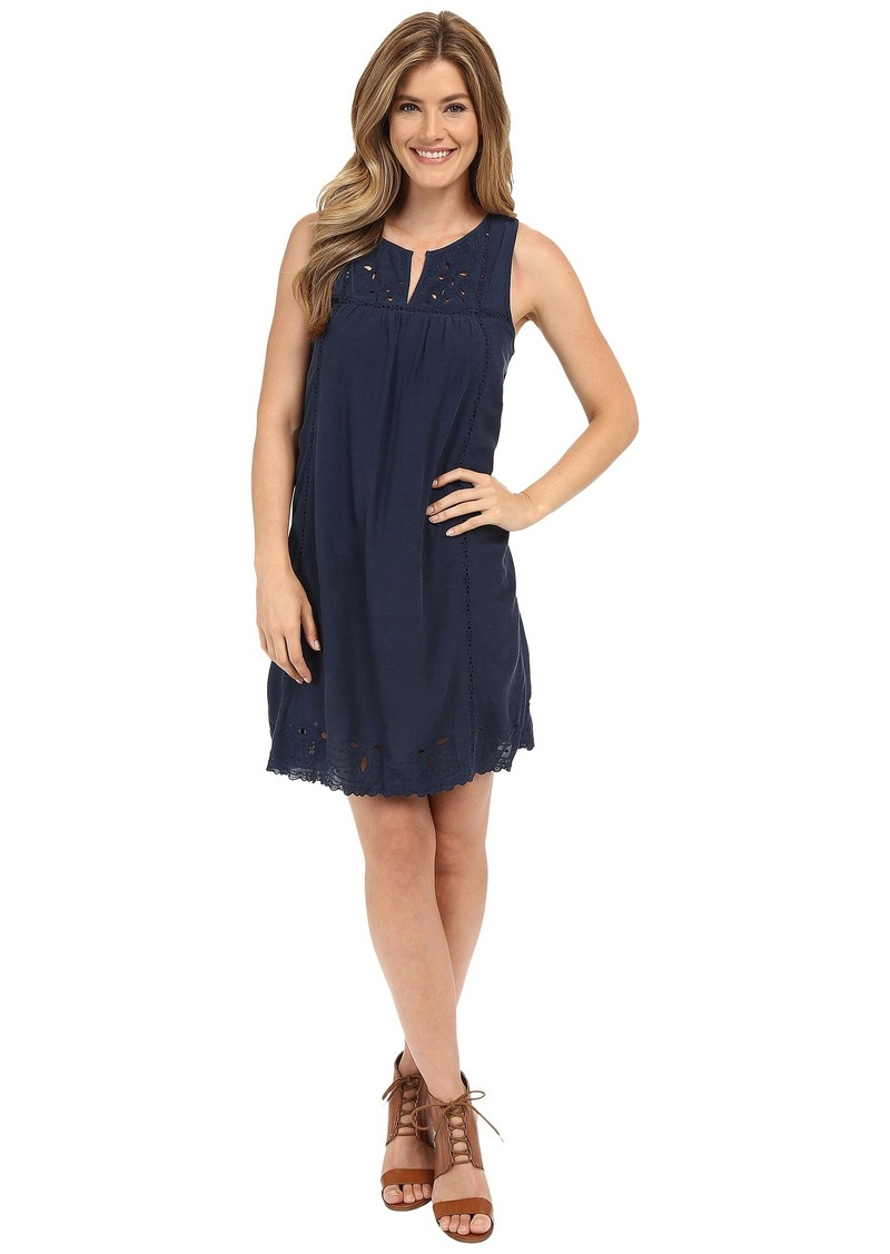 Lucky Brand Embroidered Yoke Dress