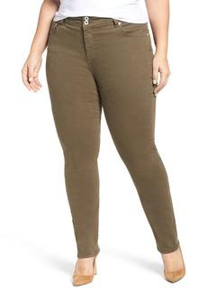 Lucky Brand Emma Stretch Cotton Jeans (Olive) (Plus Size)