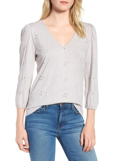 Lucky Brand Eyelet Knit Top