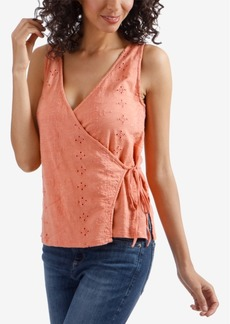 Lucky Brand Eyelet Wrap-Tank Top