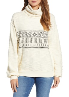 Lucky Brand Fair Isle Embroidered Turtleneck Sweater