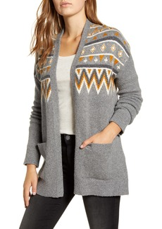 Lucky Brand Fair Isle Open Front Cardigan