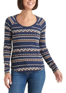 Lucky Brand Fair Isle Thermal Top