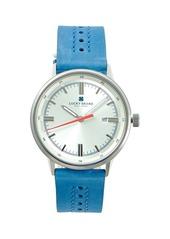 Lucky Brand Fairfax Stainless Steel & Suede-Strap Watch