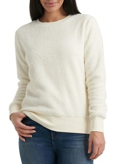 Lucky Brand Faux Fur Crewneck Sweater